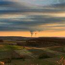 Powerplant in Farmland by Gene Walls