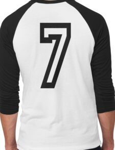 7, TEAM, SPORTS, NUMBER 7, SEVENTH, SEVEN, Competition Men's Baseball ¾ T-Shirt