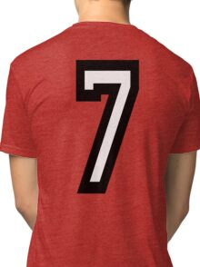 7, TEAM, SPORTS, NUMBER 7, SEVENTH, SEVEN, Competition Tri-blend T-Shirt