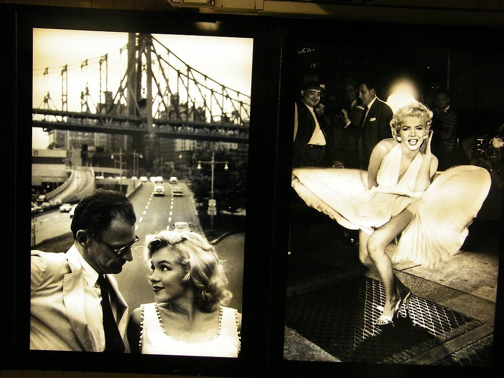 """""""Marilyn in New York"""", Sam Shaw Photographer, Photography Exhibit in New York Subway, New York City by lenspiro"""