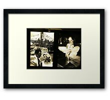 """Marilyn in New York"", Sam Shaw Photographer, Photography Exhibit in New York Subway, New York City Framed Print"