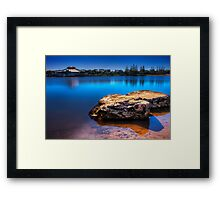 Twin Rocks Framed Print