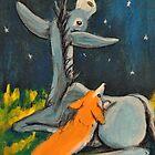 Corgi and Ass Stargazing by shinerdog