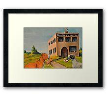 Unkind Pit Bulls Framed Print