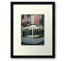 Shot Tower Coffee Philadelphia  USA Impressionist Fine Art Acrylic Painting Framed Print