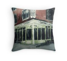 Shot Tower Coffee Philadelphia  USA Impressionist Fine Art Acrylic Painting Throw Pillow
