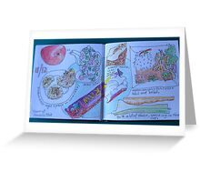 from the food diary: raw food bar Greeting Card