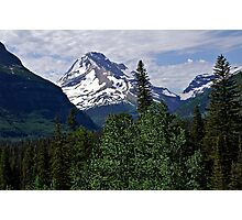 Glacier National Park Mountain and Sky Photographic Print