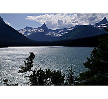 Glacier National Park Saint Mary's Lake Evening Photographic Print