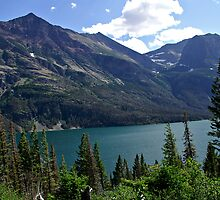Glacier National Park Saint Mary's Lake Overlook by Michael Kirsh