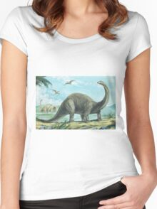 Brontosaurus Women's Fitted Scoop T-Shirt