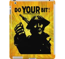 Do Your Bit iPad Case/Skin
