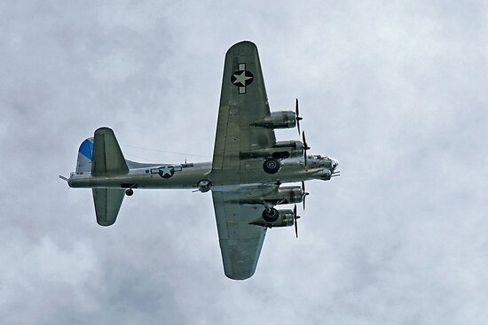 B-17G In Flight  by Gene Walls