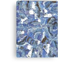 BLUE ABSTRACT GLITTER Canvas Print
