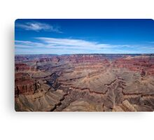 Grand Canyon Afternoon Blue Sky Canvas Print