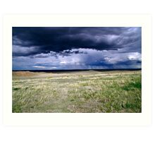 Pawnee Buttes Storm Clouds Art Print