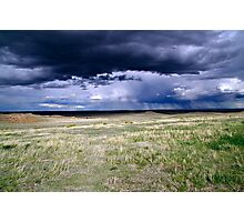 Pawnee Buttes Storm Clouds Photographic Print