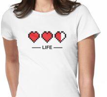 8bit life bar Womens Fitted T-Shirt