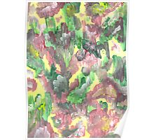 RED YELLOW AND GREEN ABSTRACT Poster