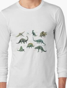 Dinosaur montage Long Sleeve T-Shirt