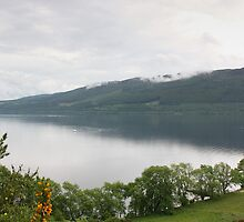 Loch Ness with Castle by Kaye Stewart
