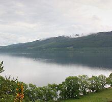 Loch Ness with Castle by Kaye Stewart
