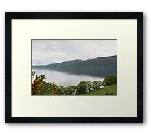 Loch Ness with Castle Framed Print