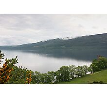 Loch Ness with Castle Photographic Print