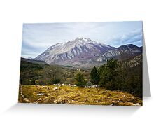 Mountains in the backgroung X Greeting Card