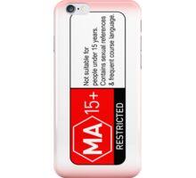 MA15+ censored iPhone case iPhone Case/Skin