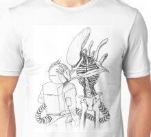 HR GIGER'S ALIEN XENOMORPH (MONO) Unisex T-Shirt