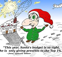 Cartoon Santa Claus and the top 1 percent by Binary-Options