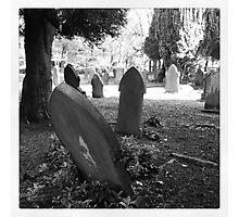 Gravestones, Buxton Photographic Print