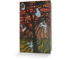 The Ghost Monkeys Greeting Card