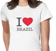 I ♥ BRAZIL Womens Fitted T-Shirt