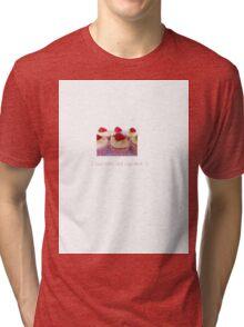 I love retro and cupcakes Tri-blend T-Shirt