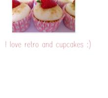 I love retro and cupcakes Sticker