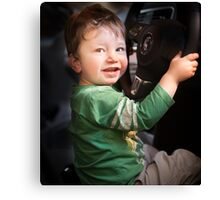 """Henry """"Driving"""" Canvas Print"""
