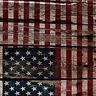 Vintage American Flag - Usa Flag Cracked Grunge Wood by UltraCases