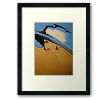 BIG BLUE  HAT Framed Print