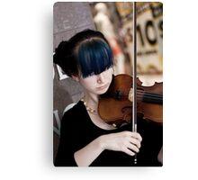 Raw Violin Talent Canvas Print
