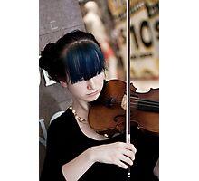 Raw Violin Talent Photographic Print