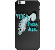 Yoga Kicks Ass. With footprint. iPhone Case/Skin