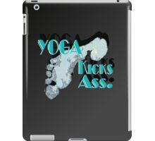 Yoga Kicks Ass. With footprint. iPad Case/Skin