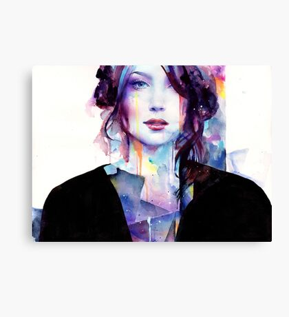 With Her Strength Canvas Print