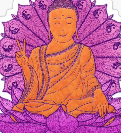 peace buddha in the sky Sticker