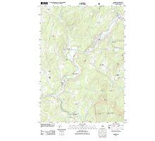 USGS TOPO Map New Hampshire NH Lisbon 20120615 TM Photographic Print