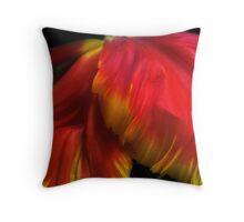 Parrot Petals Throw Pillow