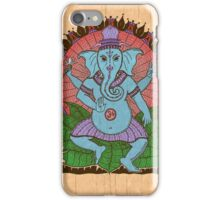 peace ganesh parchment iPhone Case/Skin