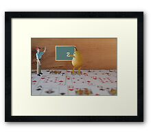 Bobby finally understands the meaning of the phrase,  'a real pear to draw two'!! Framed Print